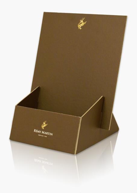 Porte leaflet, plv, carton compact, impression offset, dorure